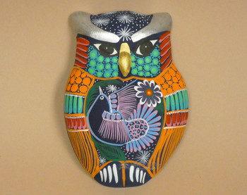 Matte Hand Painted Wall Owl