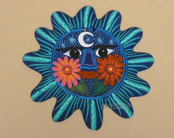 Mexican Hand Painted Hanging Sun