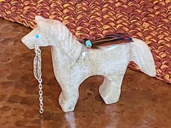 Native Alabaster Stone Fetish Horse