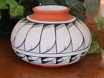 Large Hand Painted Pottery Vase
