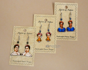 Assorted Spirit of Nature Acrylic Frida Kahlo Earrings