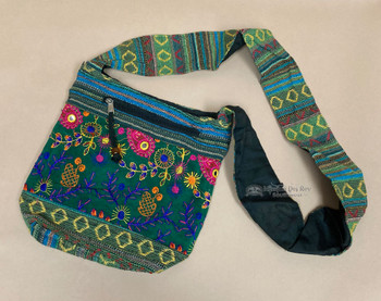 """Western Embroidered Side Purse 10"""""""