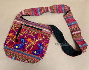 """Rustic Embroidered Side Purse 10"""""""
