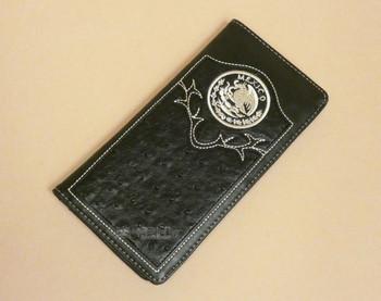 Men's Leather Roper Wallet -Mexico Emblem