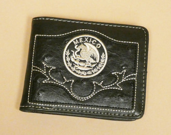 Men's Leather Billfold Wallet -Mexico