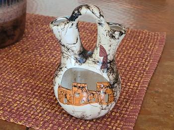 Etched horse hair wedding vase -Pueblo