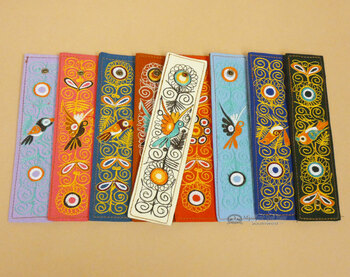 Andean Indian Embroidered Bookmarks