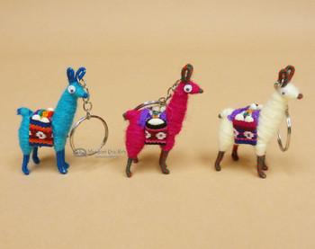 Handcrafted Peruvian Llama Keychains