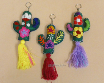Assorted Handcrafted Oaxacan Cacti Keychains