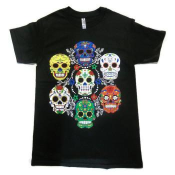 Lucky Seven Sugar Skull T Shirt