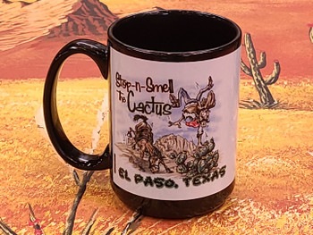 Large El Paso, Texas Mug -Smell the Cactus
