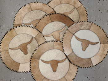 Assorted Cow Hide Placemats