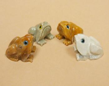 Hand Carved Andean Fetish -Frog