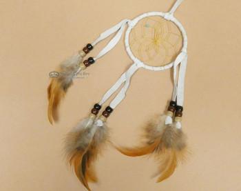 """Native American Dreamcatcher 3"""" -White"""