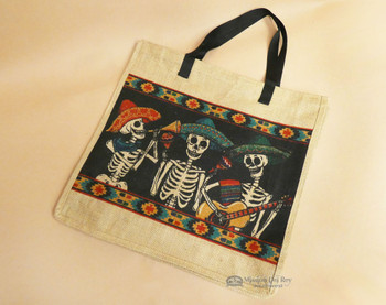 """Southwest Market Bag 18"""" Day of the Dead Mariachi"""