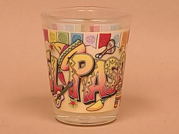 El Paso Shot Glass -Fiesta