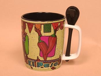 El Paso Coffee Cup w/ Spoon