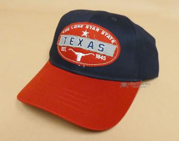 Texas Longhorn Baseball Cap -Red & Blue