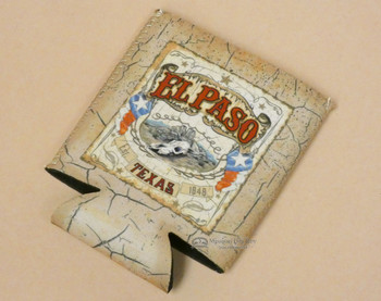 Old West Texas Can Coozie -El Paso