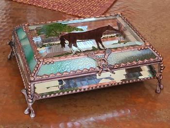 Hand Soldered, Mirrored Treasure Box