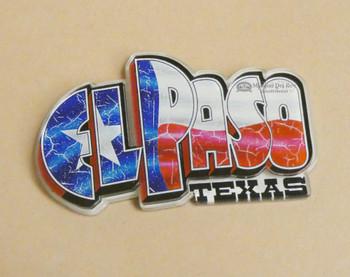 Acrylic El Paso Souvenir Magnet