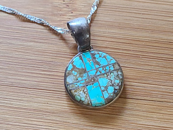 Native American Silver Pendant Necklace