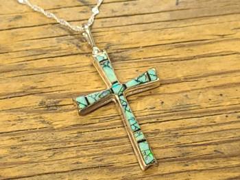 Silver Cross Necklace -Navajo