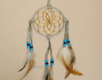 """Navajo Deer Skin Dreamcatcher 4"""" -Old Style"""