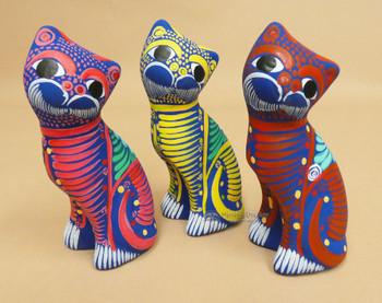 Assorted Hand Painted Alebrije Cat