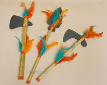 Assorted Foam & Bamboo Tomahawk, Spear, Hatchet