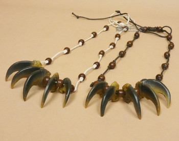 Native Style Bear 5 Claw Necklace