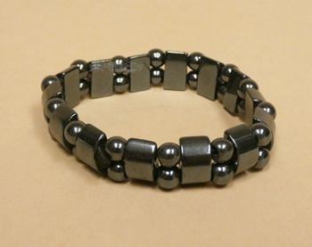 Hematite Stretch Bracelet -Half Moon