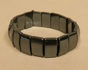 Hematite Stretch Bracelet -Plates