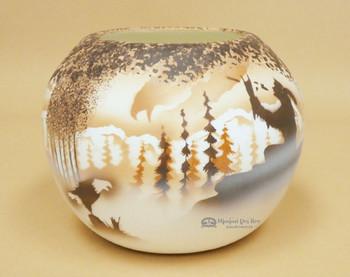 Navajo Clay Pottery Bowl Vase
