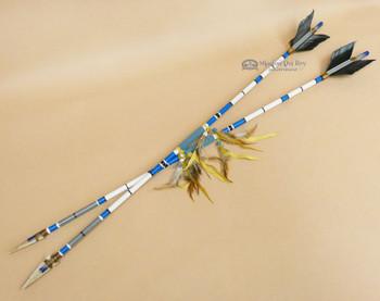 Decorative Painted Arrow -Blue