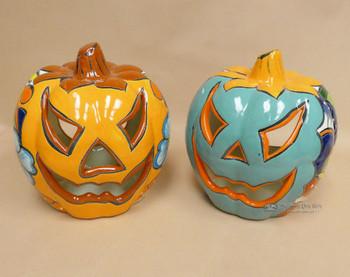 Assorted Talavera Jack O'Lantern Pumpkins