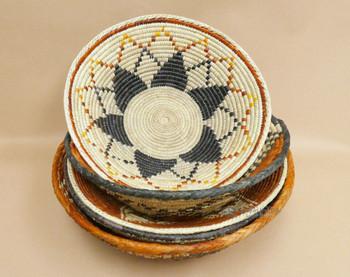 "Hand Coiled Deep Baskets 16-17"""