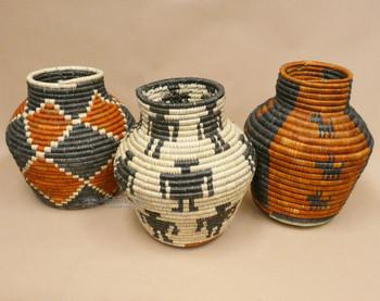"""Hand Coiled Cobra Baskets 12"""""""