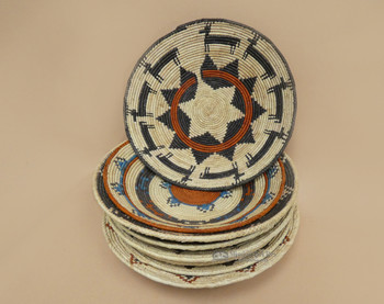 """Assorted Hand Coiled Baskets 13-16"""""""