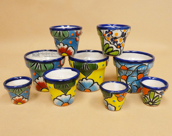 Assorted Talavera Mini Pot Sets