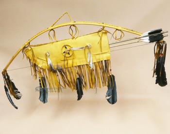 Native American Medicine Wheel Bow & Quiver Set