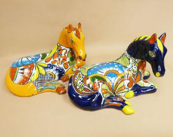 Hand Painted Mexican Talavera Horse