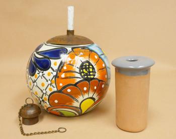 Hand Painted Talavera Lantern Ball