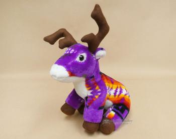 Western Stuffed Reindeer -Purple