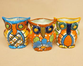 Assorted Talavera Owl Planters