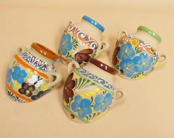 Assorted Sand Painted Talavera Wall Pots