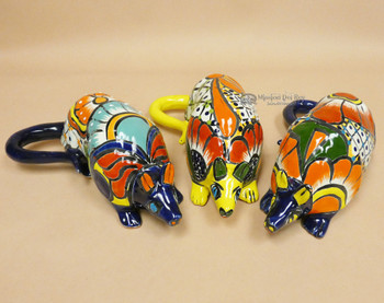 Assorted Hand Painted Talavera Armadillos