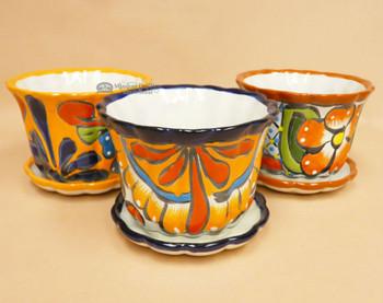 Assorted Hand Painted Talavera Pot w/ Base