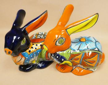 Assorted Talavera Lying Rabbits