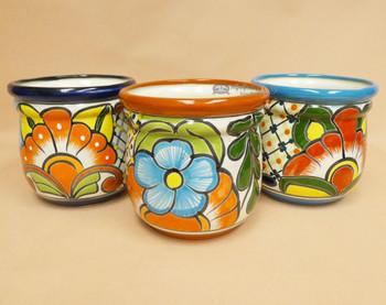 Assorted Hand Painted Talavera Acorn Pot
